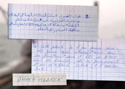 Atelier Pixel en Mauritanie : écriture des légendes ©LesAteliersPIXEL