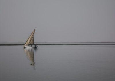 Une lanche (voilier de pêche traditionnel) en partance ©LesAteliersPIXEL