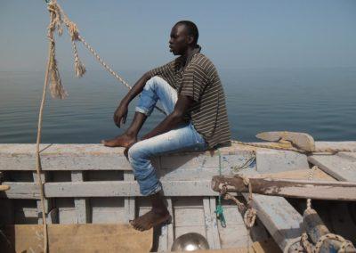 Pêcheur Imraguen, en mer ©LesAteliersPIXEL